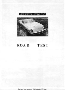 how many survive reprinted jensen healey road test